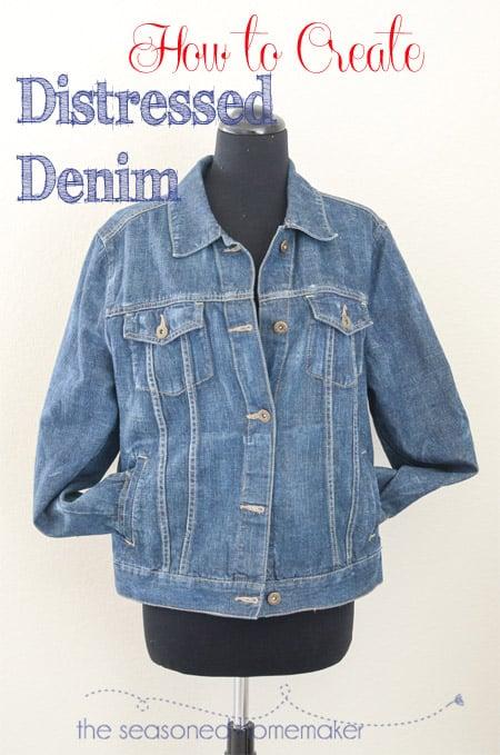 1c2f0b91efea Distressing a Denim Jacket - The Seasoned Homemaker