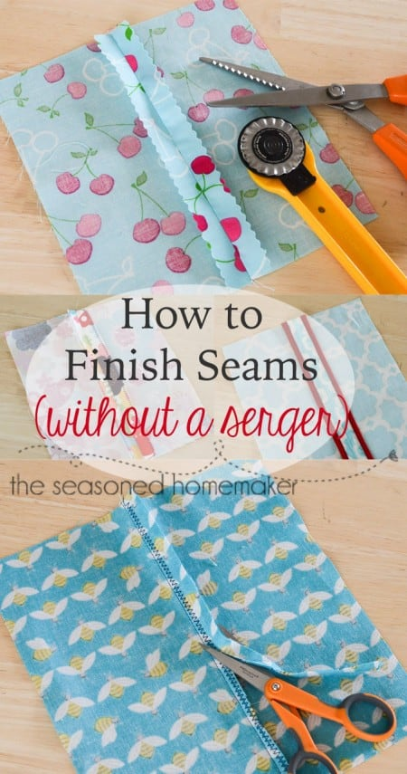 More Learn to Sew Tips and Techniques: Before there were sergers, people who knew how to sew also knew how to Finish Seams without a Serger. Learn their secrets and master How to Finish Seams. sewing | DIY |