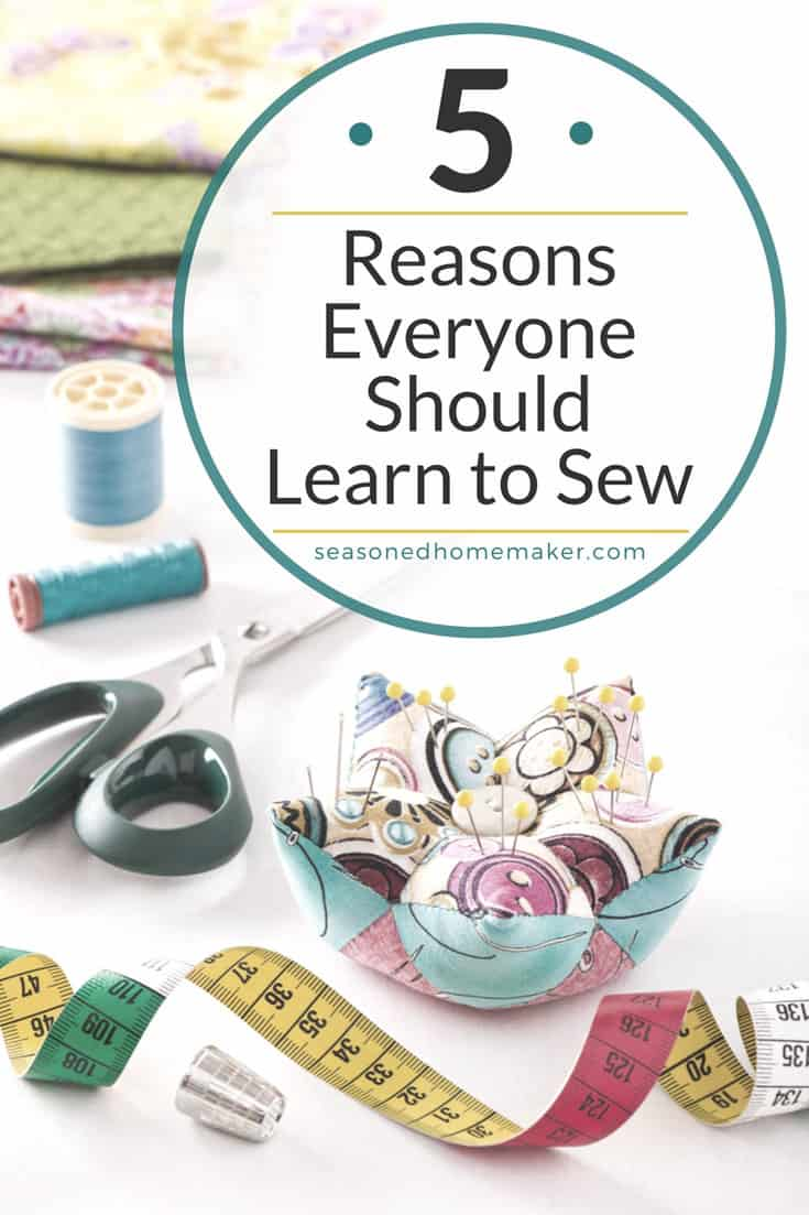 Sewing is one of those necessary skills for saving money and making simple projects. From small repairs on garments to inexpensive home decor projects, sewing makes sense. Everyone will love Reason #4.