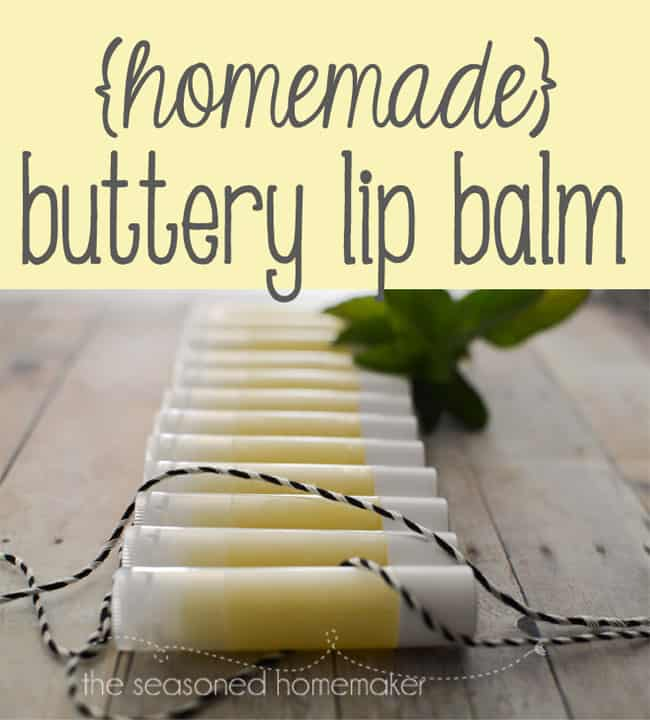 What is better than soft buttery lip balm on dry chapped lips. I've been through untold tubes of lip balm, lately. Because I have Celiac Disease I have to use gluten-free lip balms which are pricey. So, I make my own and it's so easy, you can, too. #seasonedhome
