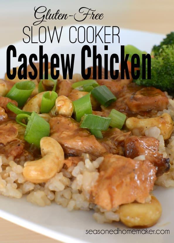Gluten-Free Slow Cooker Cashew Chicken
