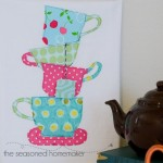 Teacup and Teapot Tea Towel Tutorial