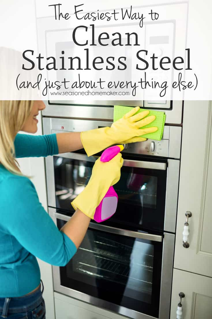 Clean with Vinegar - Cleaning Stainless Steel
