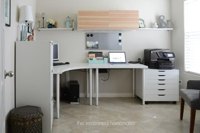 DIY Office Makeover The Seasoned Homemaker