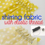 Shirring With Elastic Thread Pin