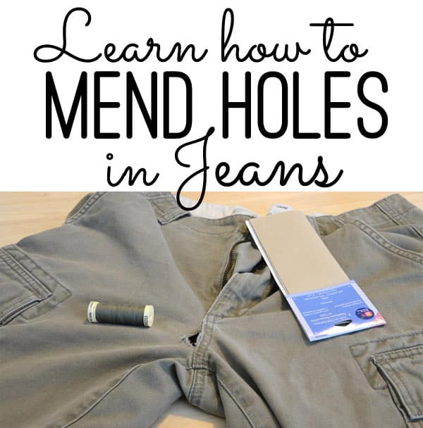 Mending Holes in Jeans