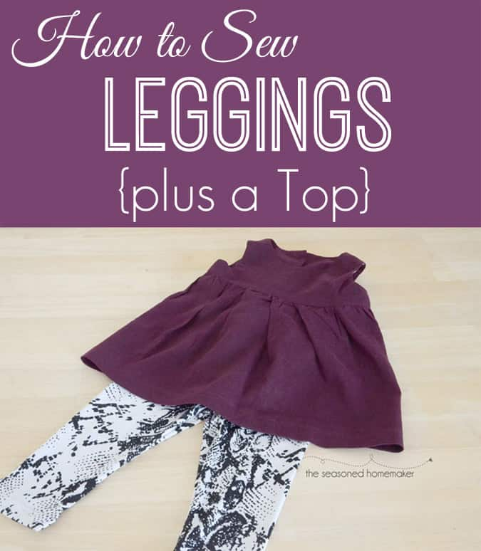 How to Sew Girl's Leggings
