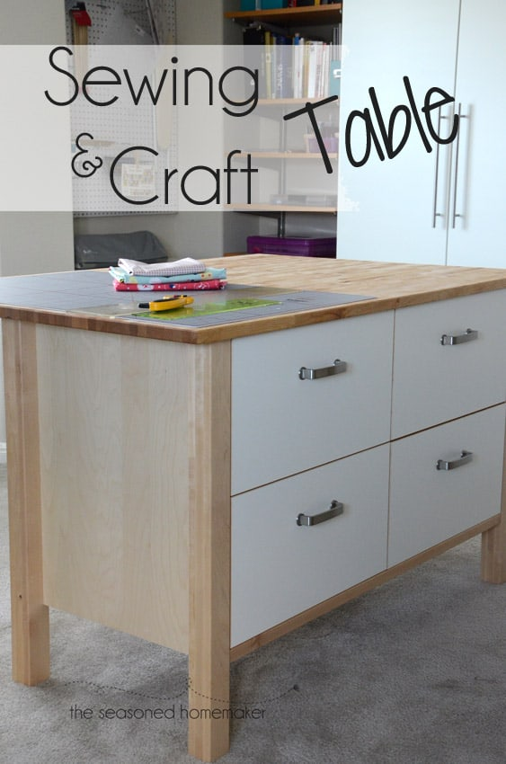 Astounding New Sewing And Craft Table The Seasoned Homemaker Download Free Architecture Designs Lukepmadebymaigaardcom