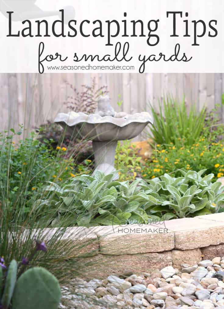 Most people never begin a new garden landscape because they don't know where to start. I have several Gardening Landscape Tips for Small Yards that will teach you the design elements that will make your small yard beautiful.