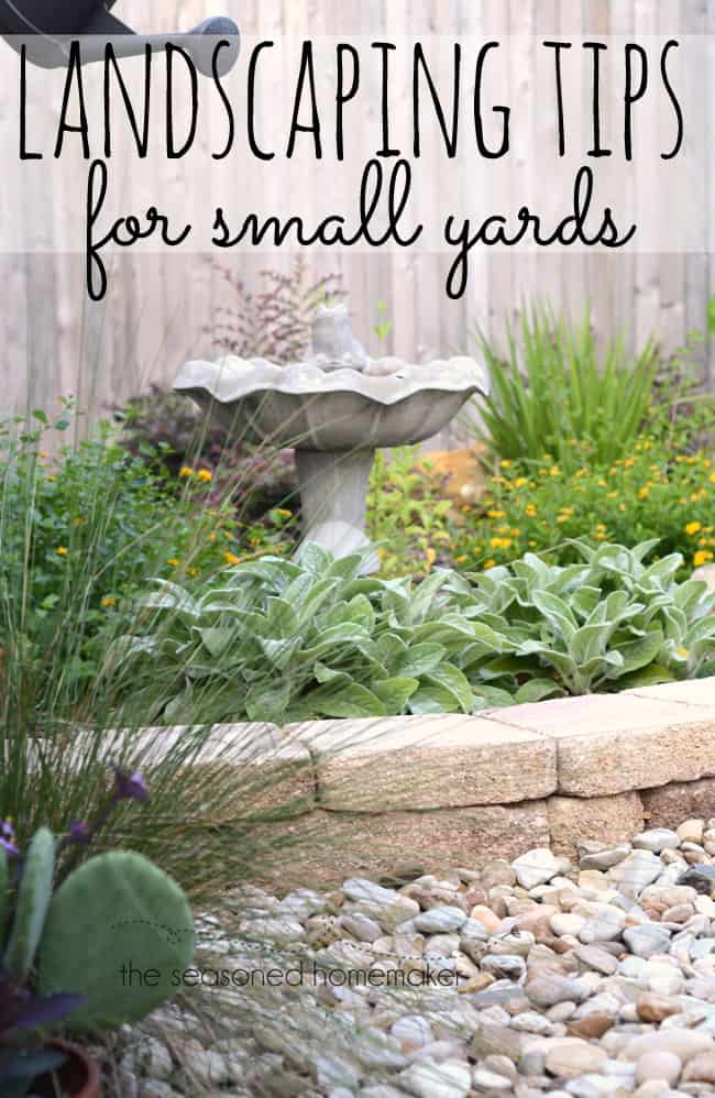 How To Start Landscaping Your Yard : Landscaping tips for small yards is easy