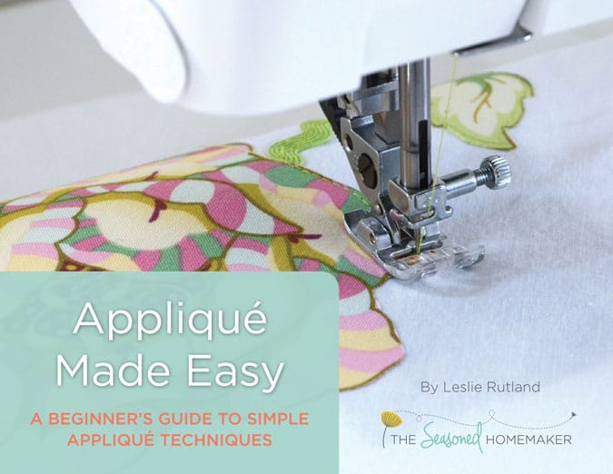 What is Appliqué? How do do you appliqué something? What supplies do you need to Appliqué? What techniques work and don't work? All of these questions plus a whole lot more are answered in Appliqué Made Easy: A Beginner's Guide to Simple Appliqué Techniques.