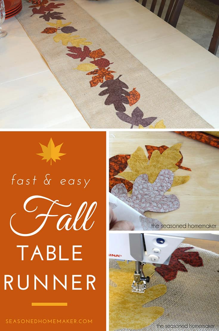 Want a simple way to warm up your Fall table? Try making this simple DIY Fall Table Runner. It's easy to make and uses inexpensive materials like burlap and fabric scraps. I've included easy step-by-step instructions that anyone can follow.