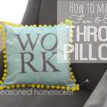 How to make a fun and easy throw pillow