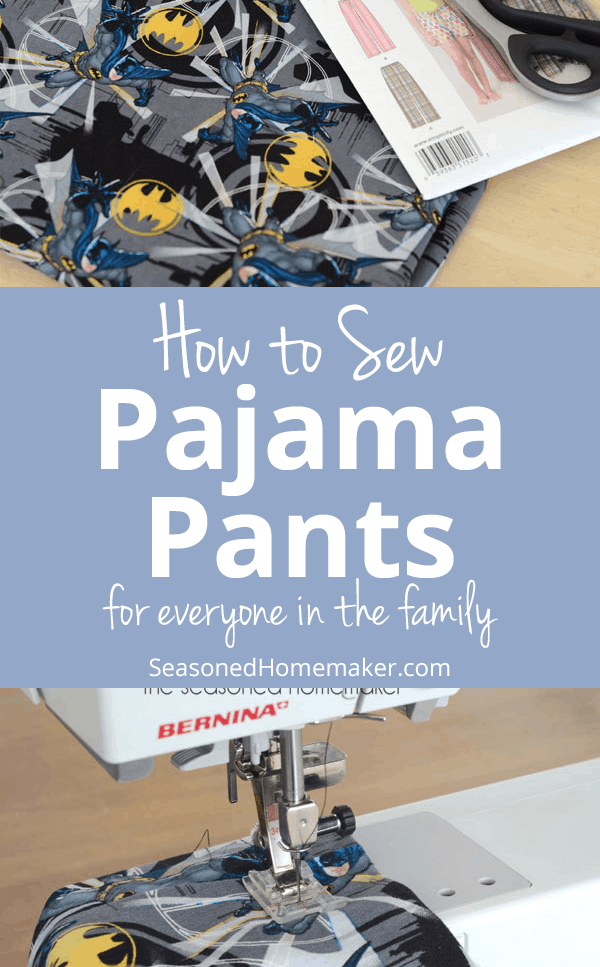 How to Sew Pajama Pants ~ Easy Tutorial for Beginners