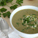 Healthy Broccoli Cheese Soup in a Pot