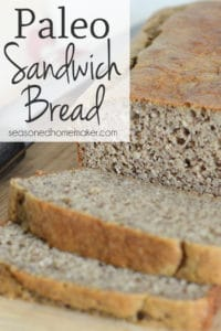 For five years I've been looking for a great bread recipe that is both gluten-free and paleo. I have found it with this Paleo Sandwich Bread. It works for sandwiches. It works for toast. And it's super easy and delicious.