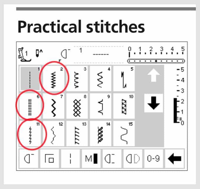stretch stitches sewing machine
