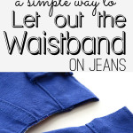 How to Let Out the Waistband on Jeans