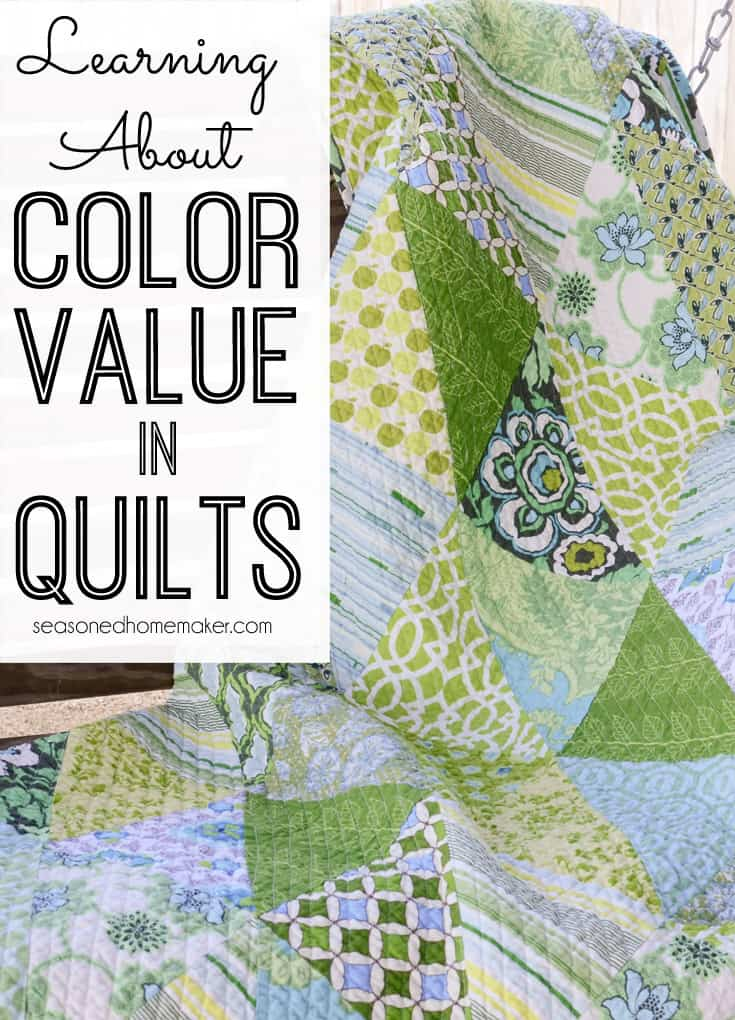 Creating great quilts starts with understanding Color Value. Read some of the tips I recently learned about Understanding Color Value in Quilts. quilting | sewing #seasonedhome