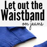 Here's a simple sewing trick for Letting Out the Waistband in Jeans. This no-seam-ripper sewing alteration takes about 15 minutes. And, no sewing experience is necessary. Make your jeans comfortable in just a few minutes. sewing | alterations #seasonedhome