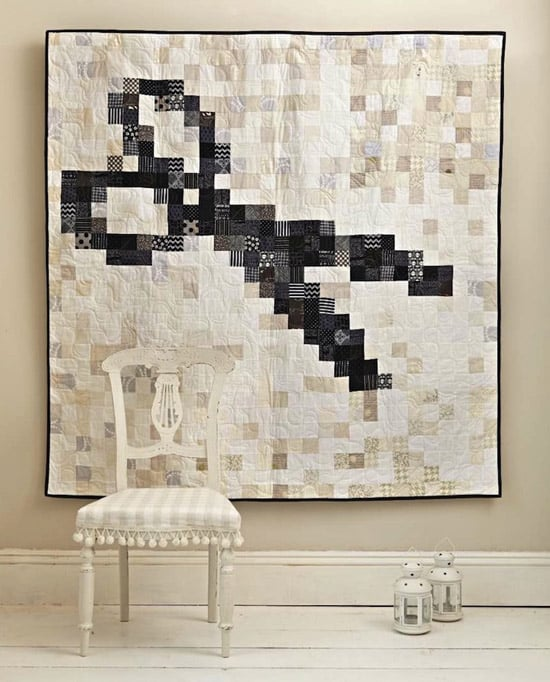 pixelated scissor quilt