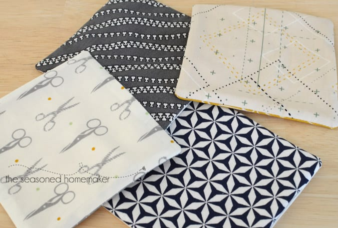 How to Make Geometric Quilted Coasters