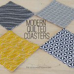 If you love sewing, quilting, and DIY then Learn How to Create Quilted Coasters in an Hour or Less. The modern geometric design of the fabric does the work for you. Sew and quilt these coasters with a cute fabric in a few minutes. sewing | quilting | DIY | DIY Crafts #seasonedhome