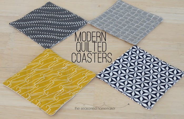 How to Create Modern Quilted Coasters