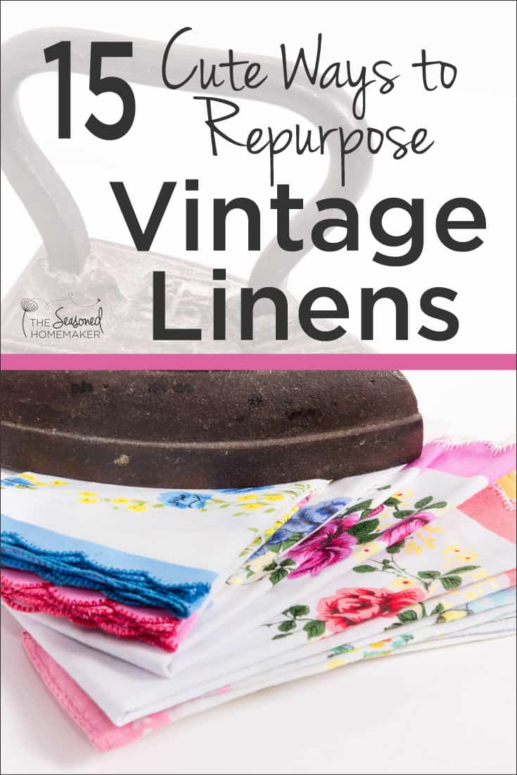 How To Make A Book Cover Look Old And Worn ~ 15 cute ways to repurpose vintage linens