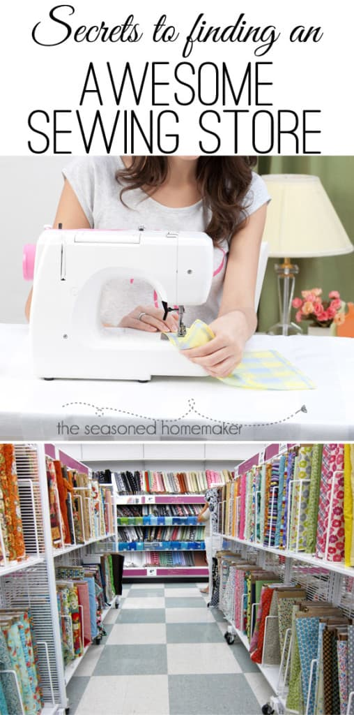 What are the Secrets to Finding an Awesome Sewing Store? It goes beyond just having a few sewing machines on display. If you are looking for a new sewing machine then you will love these tips. #5 may be a bit of a surprise. #seasonedhome