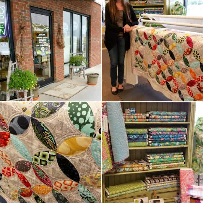 What do you look for in a Sewing Store? It goes beyond just having a few bolts of fabric on display. It's more about a feeling than a look. Discover some of the best sewing stores across the country as we travel and visit them one by one. #seasonedhome sewing | fabric | travel