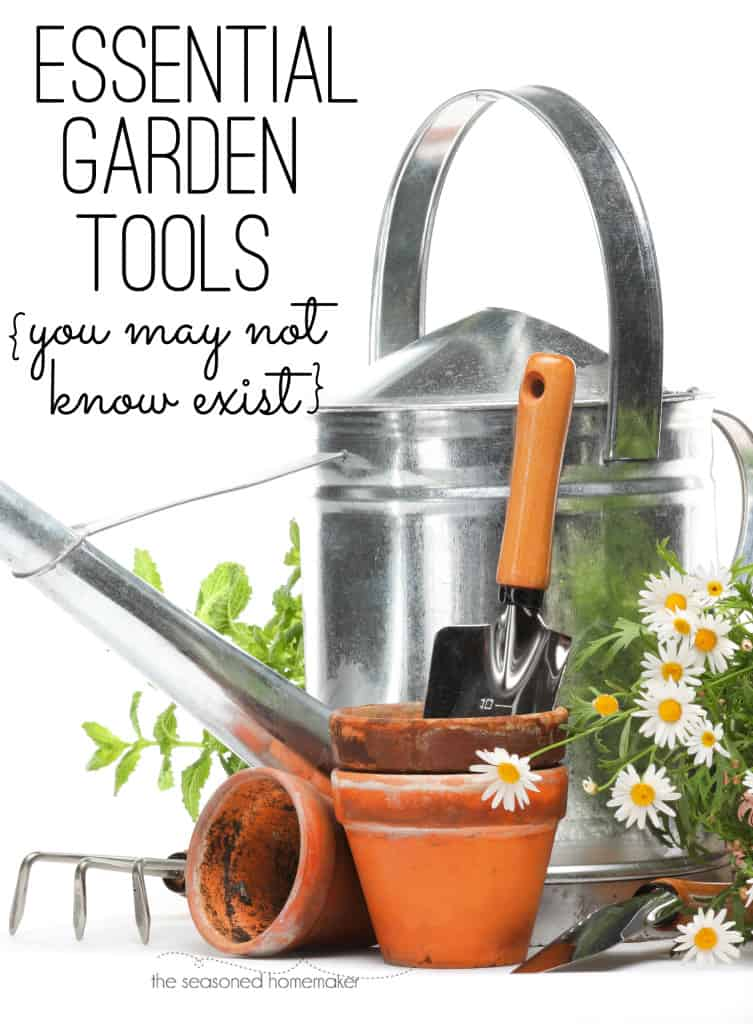 Having the right tool for the job is essential where gardening is concerned. Walk down any garden tool aisle and you will be overwhelmed by some of the choices. I've put together a short list of very effective, but lesser know gardening tools that everyone should own. #seasonedhome