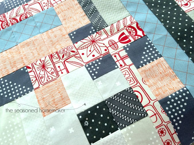 This table runner came about because of a painting I received as a gift. I love the modern geometric design in the painting and was inspired to create this modern quilted table runner using improvisational quilting methods. quilting   modern quilts   improvisational quilts