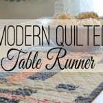 This table runner came about because of a painting I received as a gift. I love the modern geometric design in the painting and was inspired to create this modern quilted table runner. quilting | modern quilts
