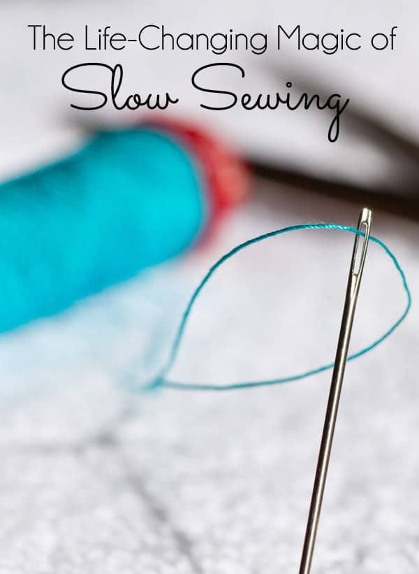 Have you heard about Slow Sewing? Taking the time to sew a little something by hand. It's about pausing with a needle and thread, taking a breath, and reflecting on your project.