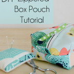 Learn how to sew simple DIY Zippered Box Pouch