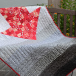 Recently, my five year old grandson asked me to make him a quilt. He was very specific. It must have a red arrow. After searching for a bit, I found this pattern on the internet. And the arrow quilt was born.