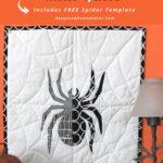 Halloween Spider Mini Quilt Pin