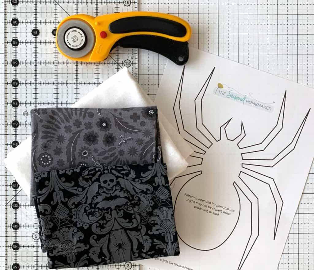Halloween Spider Mini Quilt Supplies