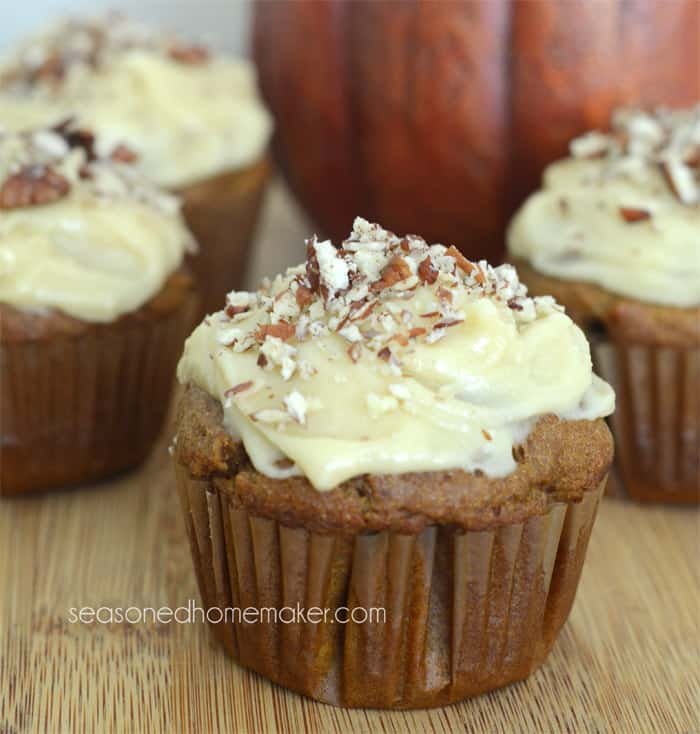 Gluten-Free Pumpkin Spice Cupcakes With Cream Cheese Maple