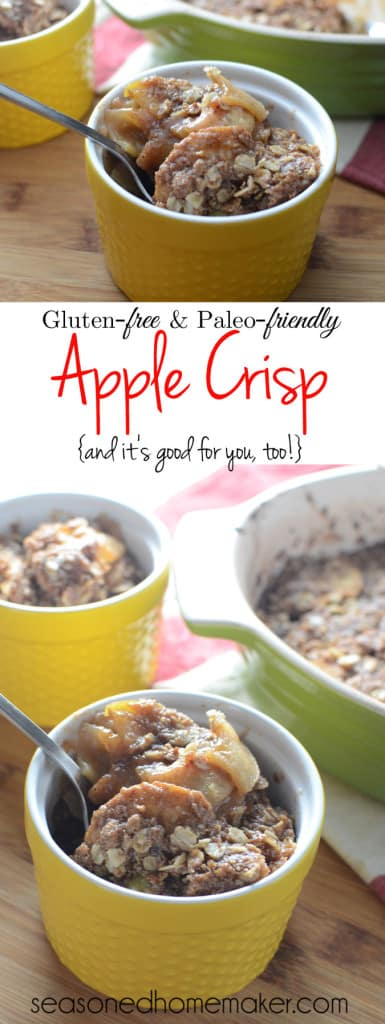 Celebrate Fall with this amazing Gluten-Free Paleo-Friendly Apple Crisp Dessert. Simple ingredients like apples, cinnamon, and butter. This recipe easily converts to paleo-friendly by switching out a few ingredients. desserts. A little taste of heaven in each bite.