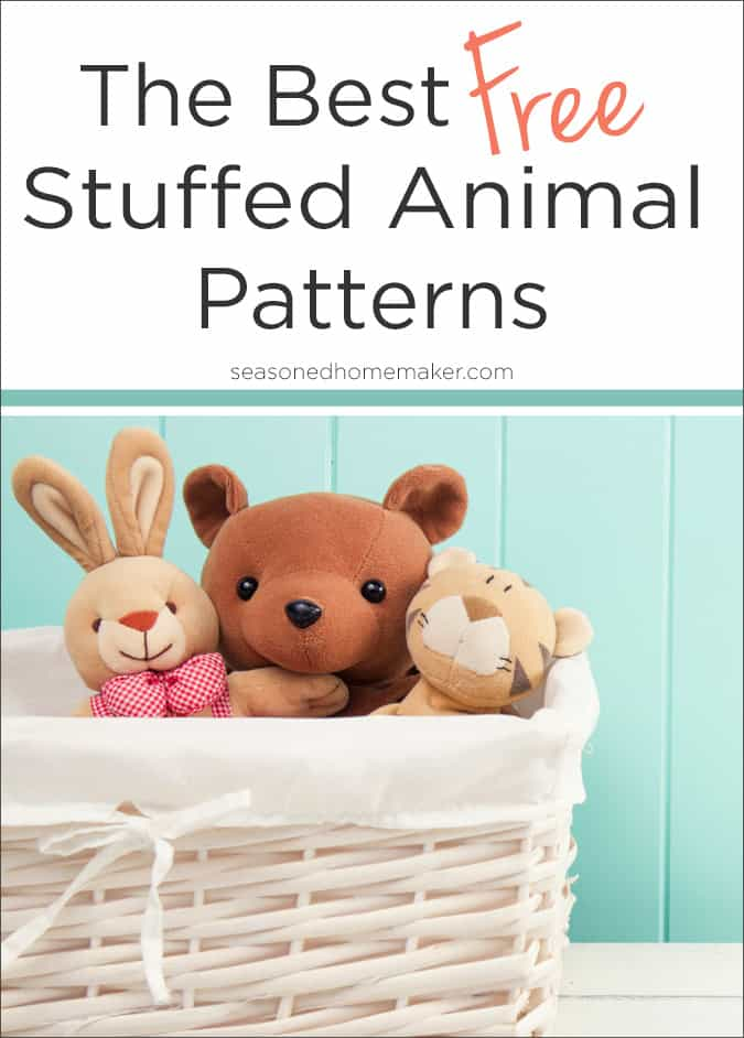 graphic relating to Free Printable Stuffed Animal Patterns named The Cutest Free of charge Loaded Animal Models