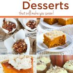 Celebrate Fall with these amazing Pumpkin Desserts. Simple pumpkin recipes that can easily be converted into amazing gluten-free or paleo-friendly desserts. A little taste of heaven in each bite.