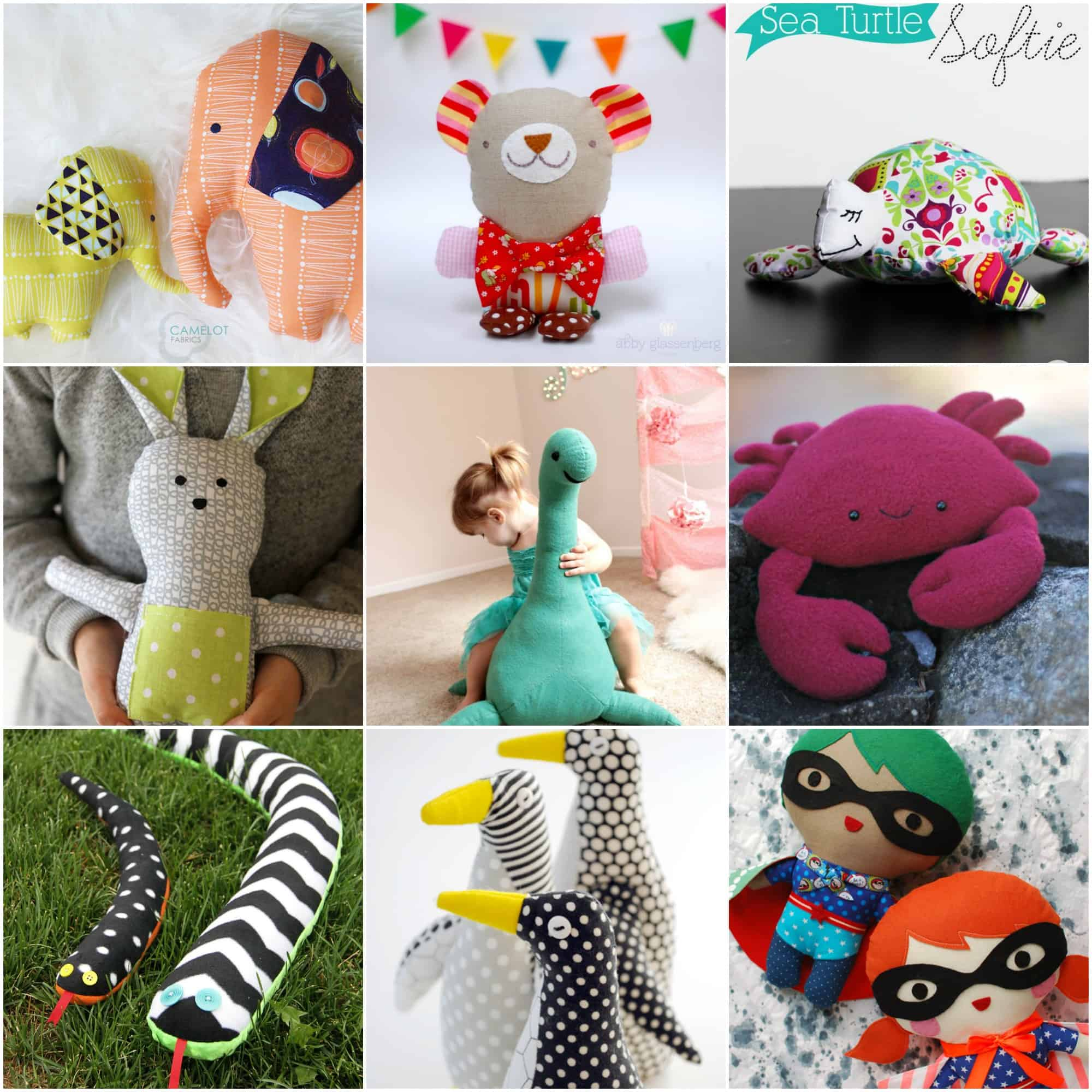 Softies plushies stuffies or stuffed animals any name will do this collection of the cutest free stuffed animal patterns will put a smile on your face theres something for everyone dont forget sewing jeuxipadfo Image collections