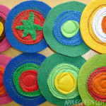 Friday Feature: Colorful DIY Felt Coasters