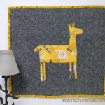 Want a way to use of up those sewing scraps. Applique is an excellent way to embellish a modern quilt. It's ideal for all sorts of sewing projects. If you can sew a straight stitch then you can make Como Se Llama Mini Quilt. The quilt is fast, easy, and can be completed in an afternoon. sewing | quilting | appliqué