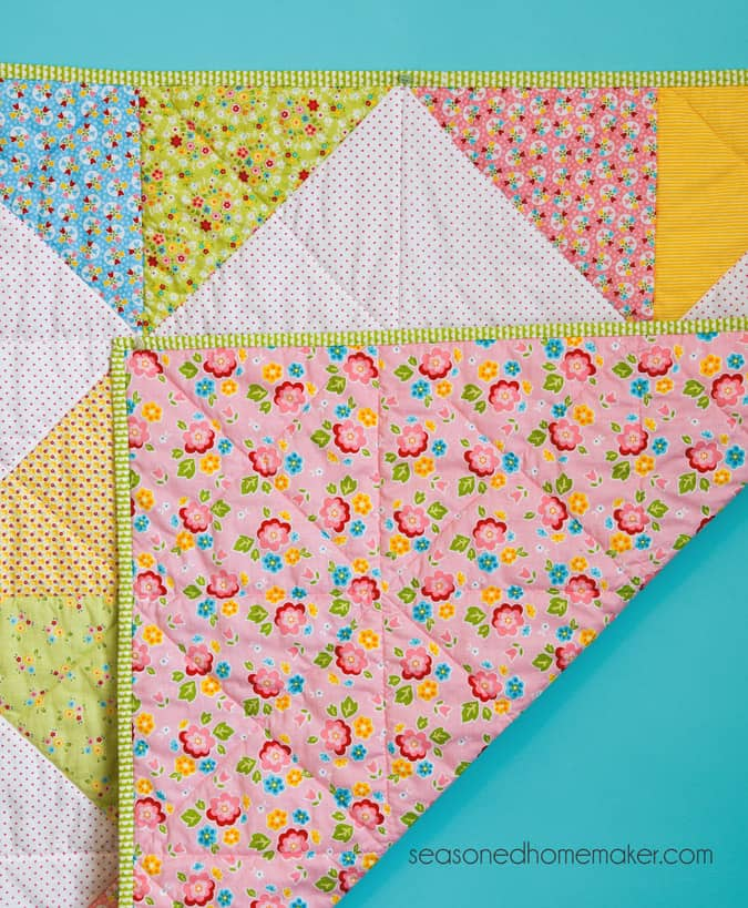 Everyone needs a simple baby blanket or baby quilt pattern in their arsenal. Find one that can be easily assembled and quilted and you'll never wonder what to gift to give at the next baby shower you attend.