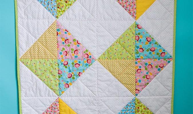 A Simple Baby Quilt that Anyone Can Make
