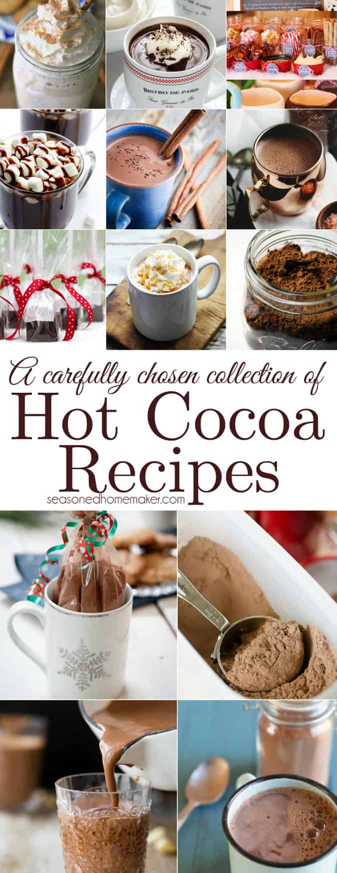 Hot Chocolate Recipes - The Seasoned Homemaker
