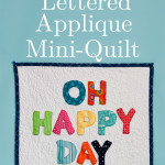 How to Make a Lettered Applique Mini-Quilt